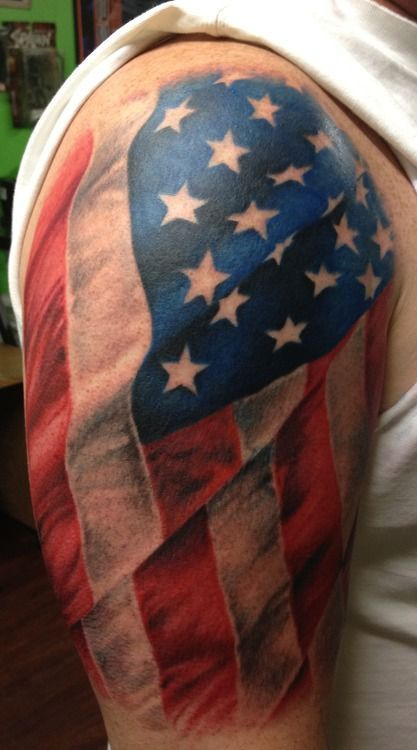 usa tattoo tribal flag arm Awesome with tattoo