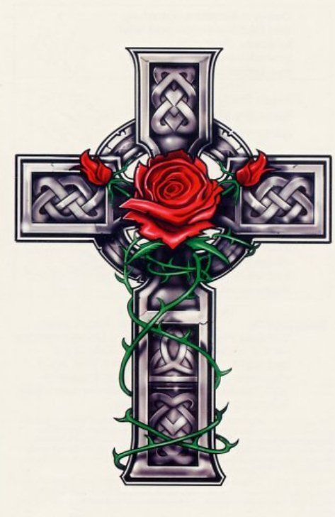 cross with roses wwwpixsharkcom images galleries