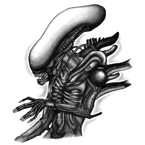 Alien body  tattoo design