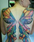 Colourful butterfly wings tattoo