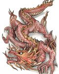 Red dragon tattoo design