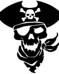 Pirate skull in black version