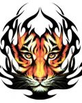 Tribal tiger face design