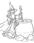 Wizard with big pot