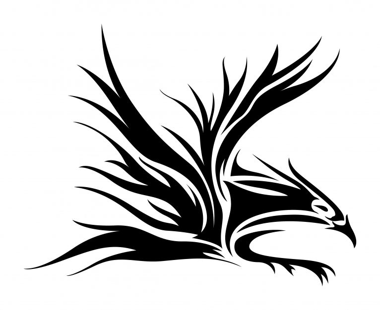 Design with tribal bird