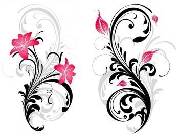tribal patterns with floral elements Fleur De Lis Graphics Vintage Fleur De Lis Clip Art