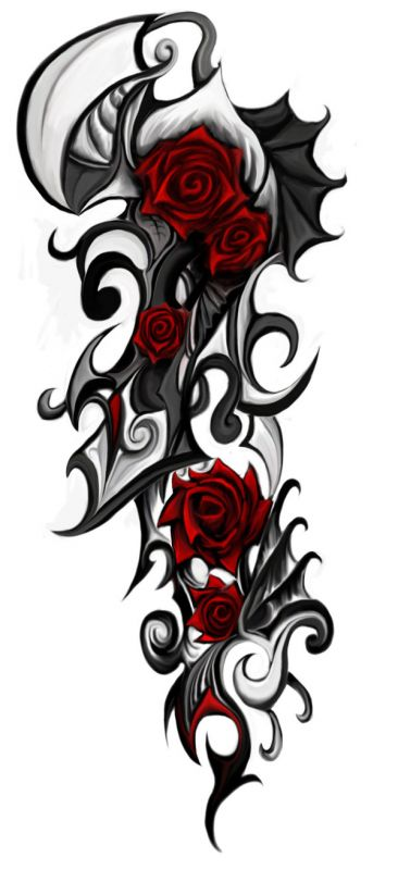 Awesome design with red roses