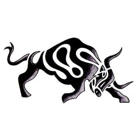 tribal bull tattoo design. Black Bedroom Furniture Sets. Home Design Ideas
