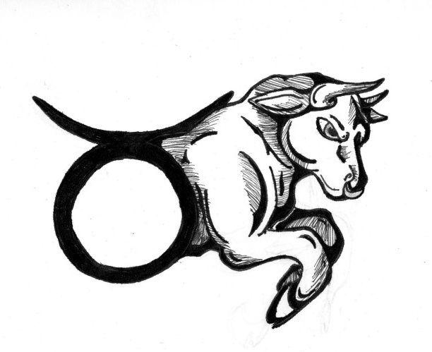 Taurus with his symbol