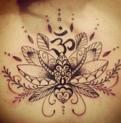 Tattoo flower lotus in a decorative form
