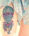 Balloon with flowers tattoo