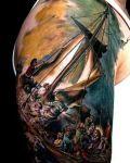 Amazing ship tattoo