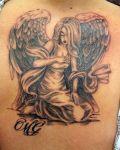 Angel tattoo on back