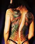 Awesome wings tattoo