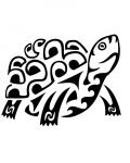 Turtle in tribal style