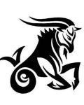 Black capricorn sign