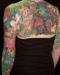 Colourful cartoon tattoo
