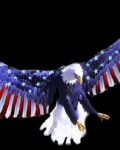 Beautiful eagle with flag as wings