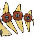 Funny fishbone with srews