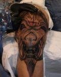 Creature on knee