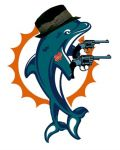 Dolphin in hat