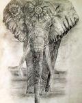 Elephant with symbols