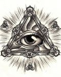 Triangle with eye