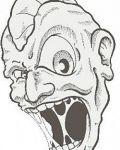 Horrible monster face