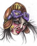 Face of woman tattoo design