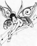 Fairy with music elements