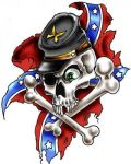 Flag with skull and bones