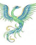 Beautiful phoenix in colours