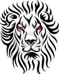 Big head of lion