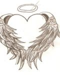 Heart ith brown wings