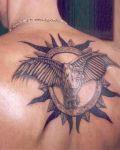 Bird and sun tat