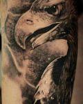 Bird's head tattoo