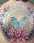 Lotus and butterfly tattoo