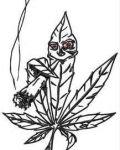 Smoking marijuana leaf