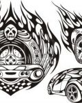 Tattoo design with cars