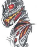 Biomechanical design with orange elements