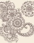 Oriental flowers and patterns