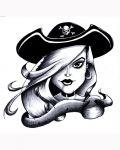 Beautiful blonde as pirate