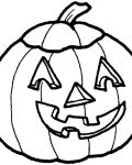 Smile on pumpkin face