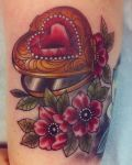 Ring with flowers tattoo