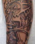 Mechanical details under skin