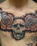 Amazing tattoo on the chest