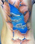 Sky under the skin tattoo