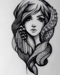 Tattoo with Virgo