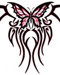 Tribal pattern with butterfly