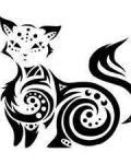 Tribal cat design
